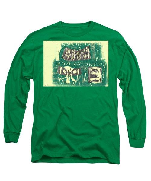 E Cd Grey And Green Long Sleeve T-Shirt
