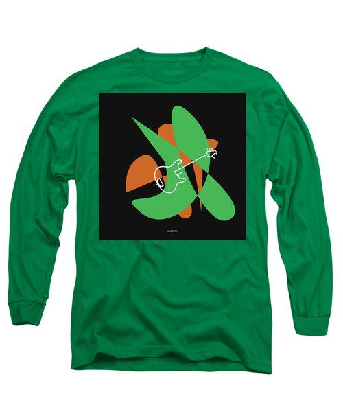 Electric Bass In Green Long Sleeve T-Shirt