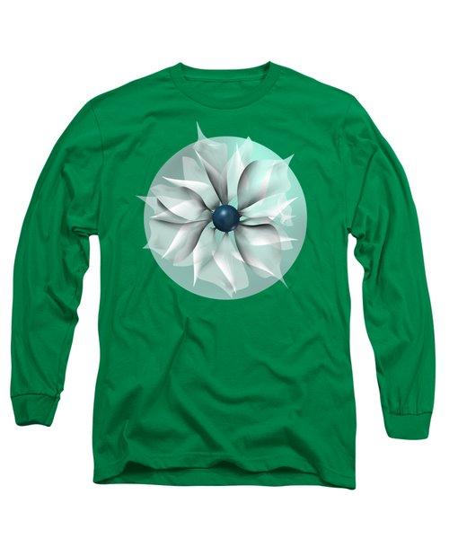 Emerald Flower Long Sleeve T-Shirt