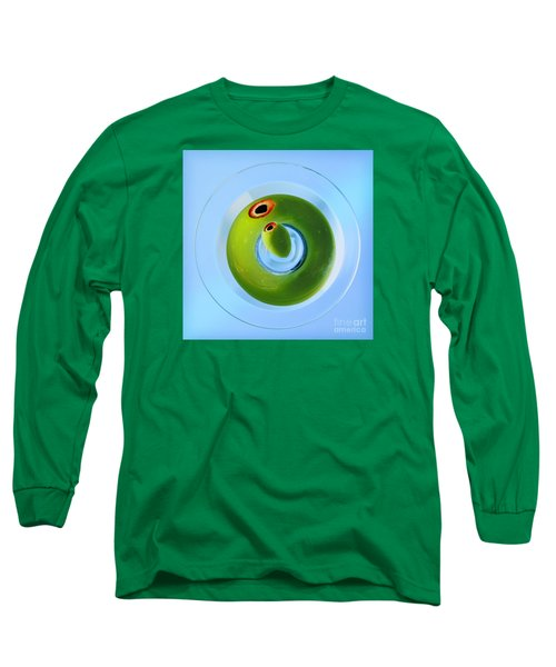 Long Sleeve T-Shirt featuring the photograph Olive Eye by Martin Konopacki