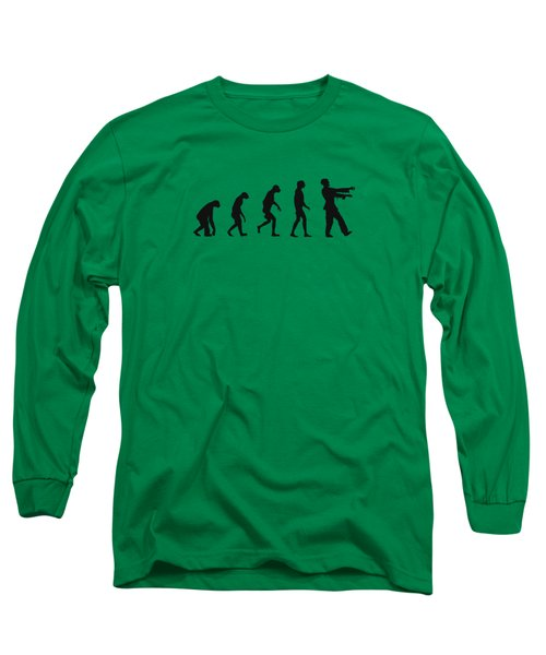 Evolution Of Zombies Zombie Walking Dead Long Sleeve T-Shirt