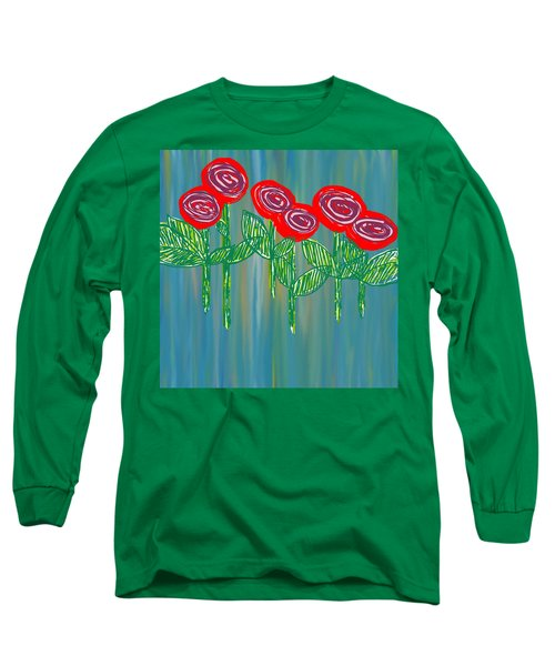 Floating Roses Long Sleeve T-Shirt
