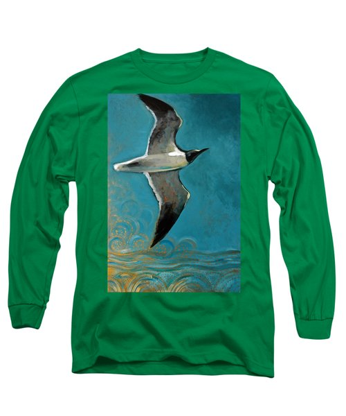 Long Sleeve T-Shirt featuring the painting Flying Free by Suzanne McKee