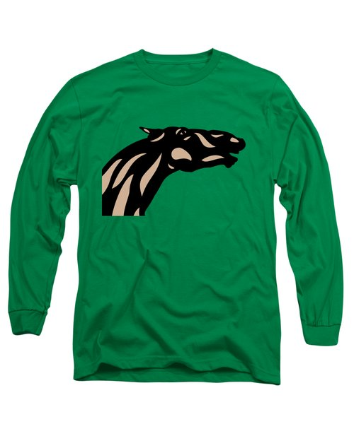 Fred - Pop Art Horse - Black, Hazelnut, Emerald Long Sleeve T-Shirt