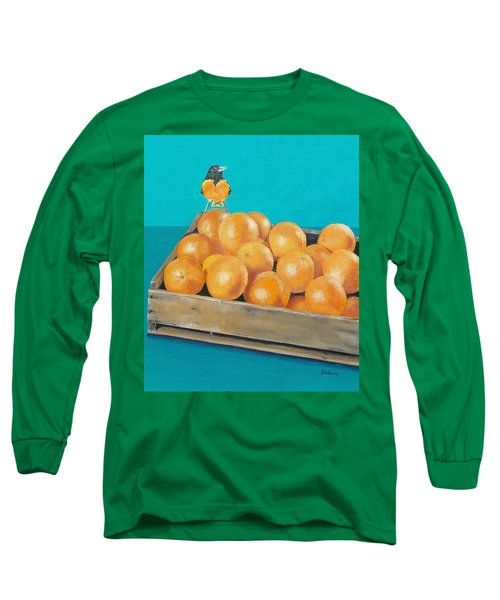 Long Sleeve T-Shirt featuring the painting Frustrated Oriole by Susan DeLain