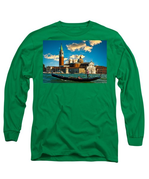 Gondola And San Giorgio Maggiore Long Sleeve T-Shirt by Harry Spitz