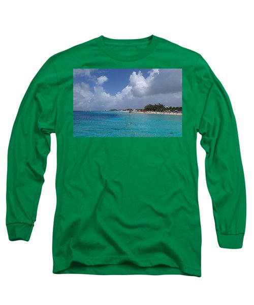 Grand Turk Beach Long Sleeve T-Shirt by Lois Lepisto