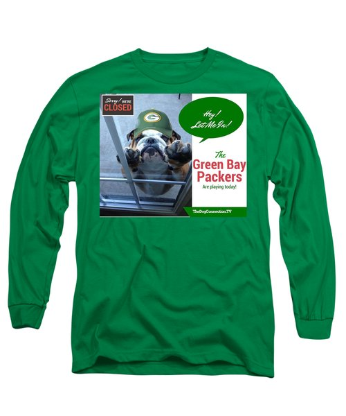 Long Sleeve T-Shirt featuring the digital art Green Bay Packers by Kathy Tarochione