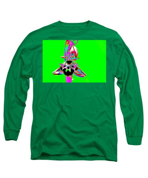 Green Bee Orchid Long Sleeve T-Shirt by Richard Patmore