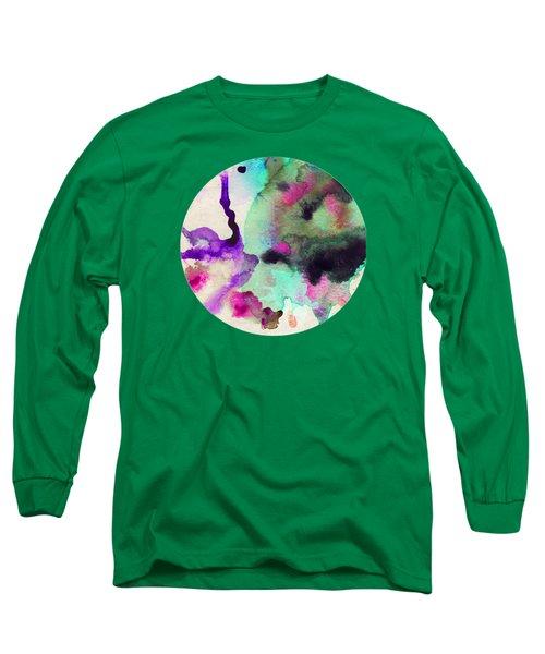 Green Color Splash Long Sleeve T-Shirt