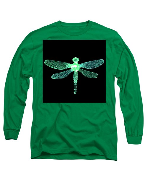 Green Dragonfly Long Sleeve T-Shirt