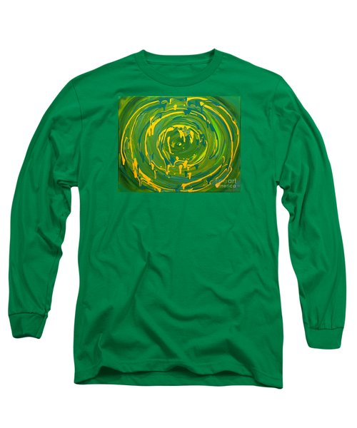 Green Forest Swirl Long Sleeve T-Shirt