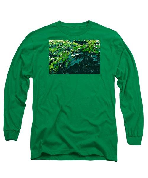 Green Leaves Long Sleeve T-Shirt by John Rossman