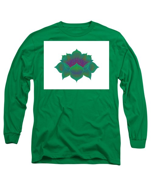 Long Sleeve T-Shirt featuring the digital art Green Lotus by Elizabeth Lock