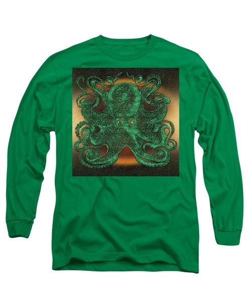 Green Octopus Long Sleeve T-Shirt