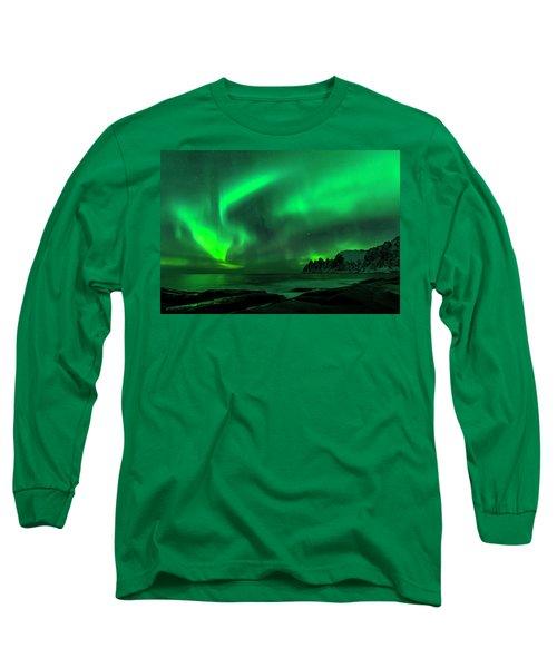 Green Skies At Night Long Sleeve T-Shirt