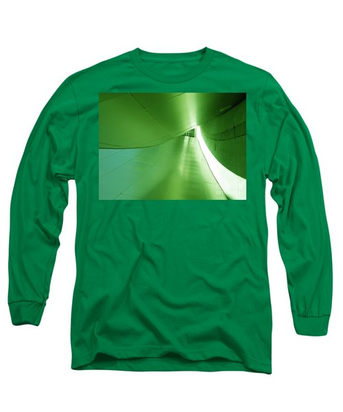 Long Sleeve T-Shirt featuring the photograph Green Tunnel. Los Angeles Series. by Ausra Huntington nee Paulauskaite