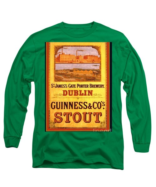 Guinness - Stout Long Sleeve T-Shirt by Pg Reproductions
