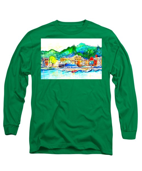 Halycon Days At The Blue Water Long Sleeve T-Shirt