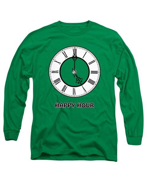 Happy Hour - Green Long Sleeve T-Shirt