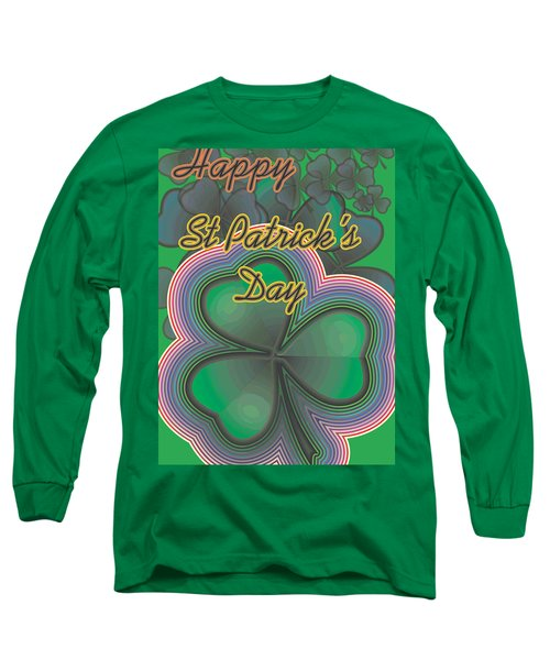Happy St. Patrick's Day Long Sleeve T-Shirt by Sherril Porter