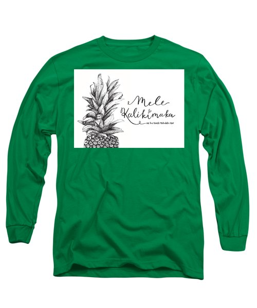 Hawaiian Christmas Long Sleeve T-Shirt