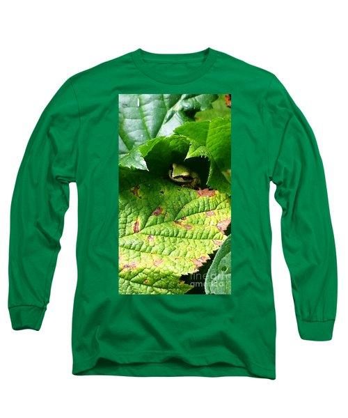 Hiding Tree Frog Long Sleeve T-Shirt