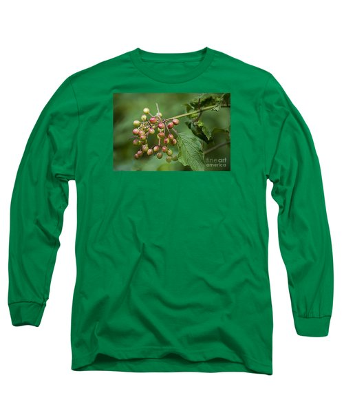 Long Sleeve T-Shirt featuring the photograph High Bush Cranberry 20120703_106a by Tina Hopkins