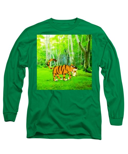 Hungry Tiger In The Jungle Long Sleeve T-Shirt