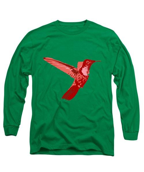 humming bird Contours Long Sleeve T-Shirt by Keshava Shukla