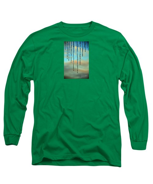 Long Sleeve T-Shirt featuring the photograph Ice Sickles - Winter In Switzerland  by Susanne Van Hulst