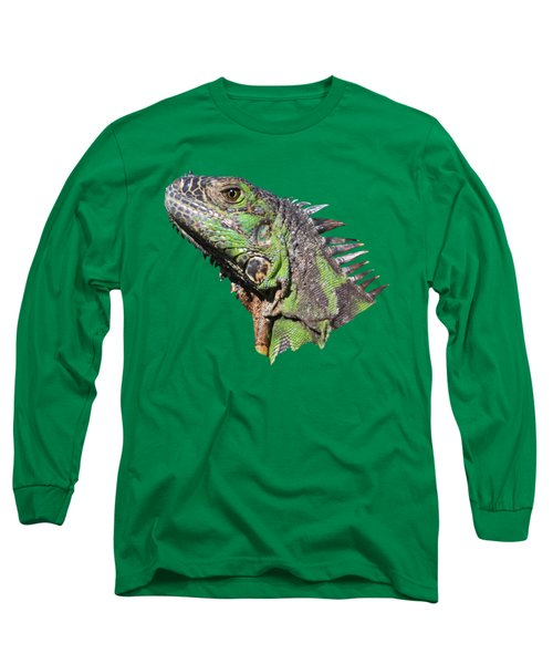 Long Sleeve T-Shirt featuring the photograph Iguana by Shane Bechler