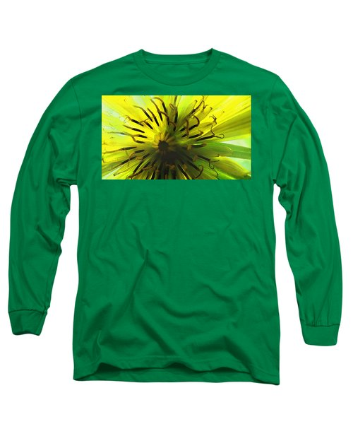 Inside A Yellow Goatsbeard  Long Sleeve T-Shirt