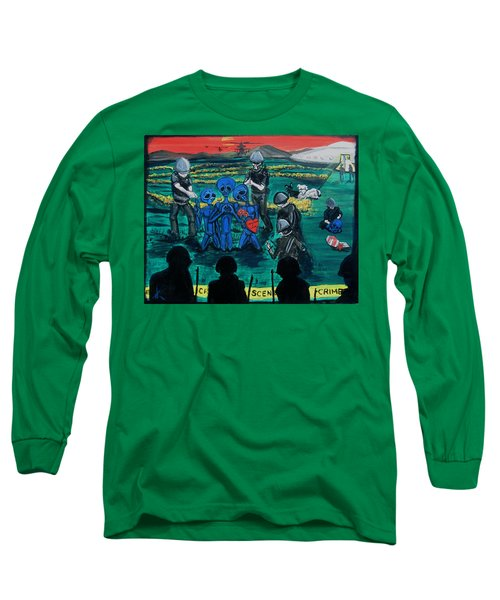 Long Sleeve T-Shirt featuring the painting Intergalactic Misunderstanding by Similar Alien