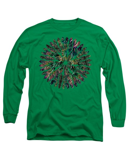 Iridescent Feathers Long Sleeve T-Shirt