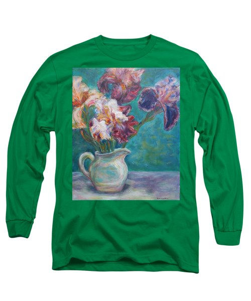Iris Medley - Original Impressionist Painting Long Sleeve T-Shirt by Quin Sweetman