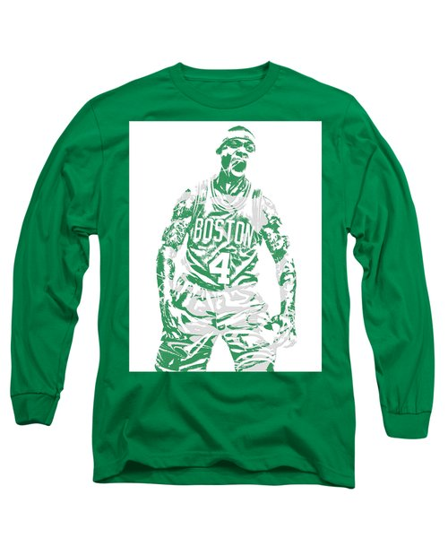Isaiah Thomas Boston Celtics Pixel Art 16 Long Sleeve T-Shirt