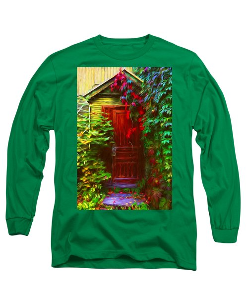 Ivy Surrounded Old Outhouse Long Sleeve T-Shirt