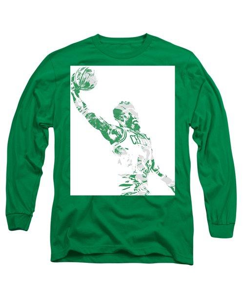 Jaylen Brown Boston Celtics Pixel Art 11 Long Sleeve T-Shirt