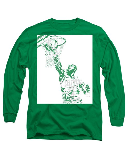 Jaylen Brown Boston Celtics Pixel Art 12 Long Sleeve T-Shirt