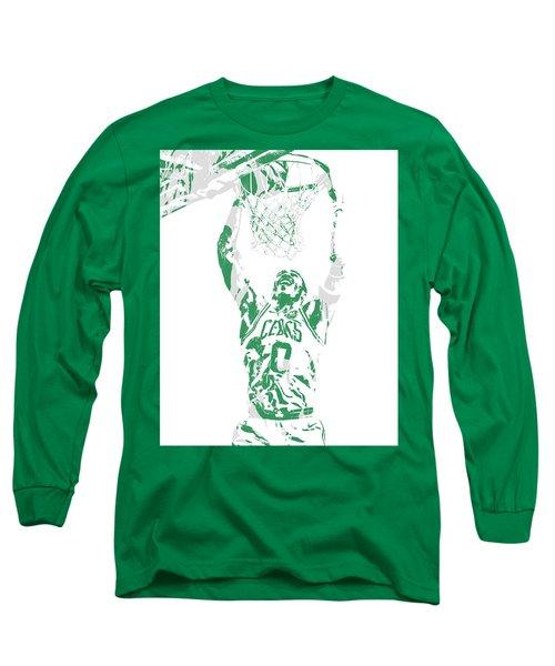 Jayson Tatum Boston Celtics Pixel Art 10 Long Sleeve T-Shirt