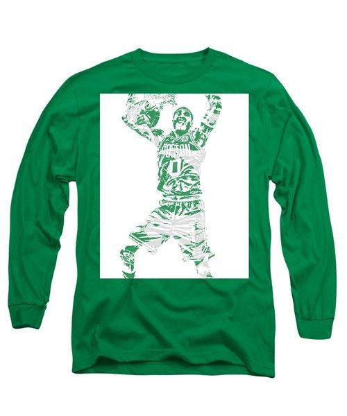 Jayson Tatum Boston Celtics Pixel Art 11 Long Sleeve T-Shirt