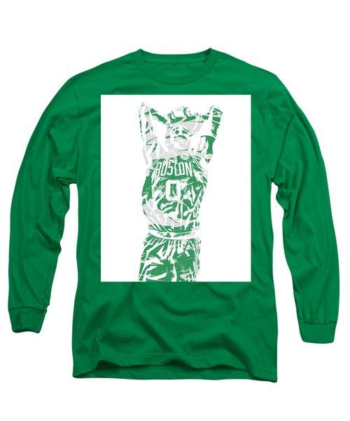 Jayson Tatum Boston Celtics Pixel Art 12 Long Sleeve T-Shirt