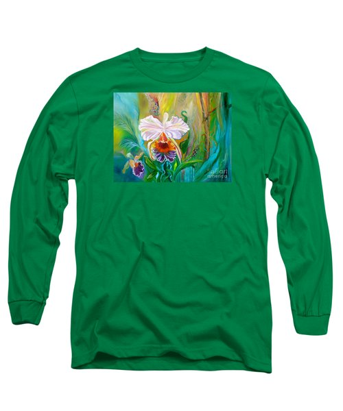 Jungle Orchid Long Sleeve T-Shirt by Jenny Lee