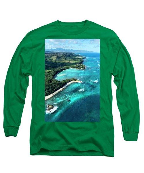 Kawela Bay, Looking West Long Sleeve T-Shirt
