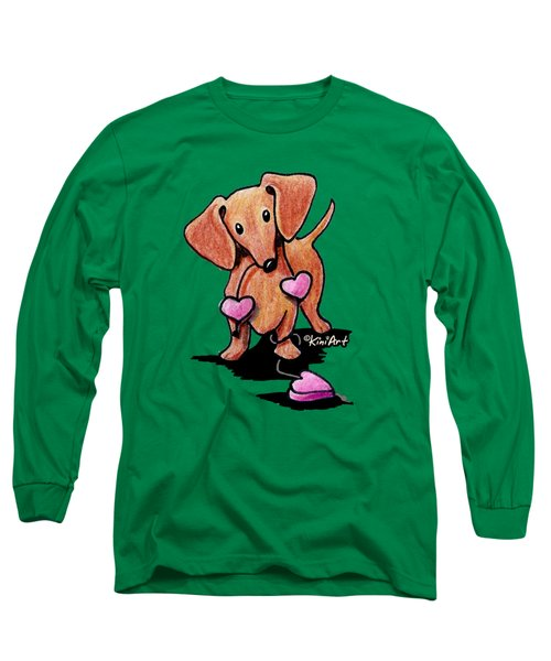 Kiniart Heartstrings Doxie Long Sleeve T-Shirt