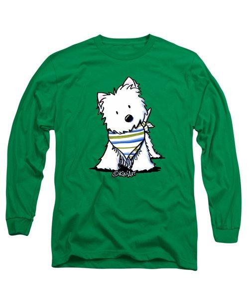 Kiniart Westie Terrier Long Sleeve T-Shirt