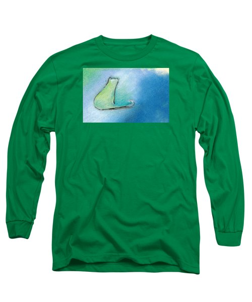 Kitty Reflects Long Sleeve T-Shirt by Valerie Reeves