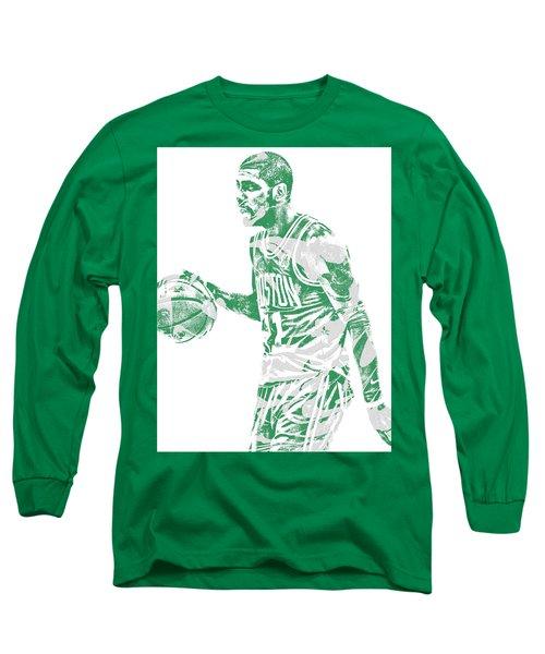 Kyrie Irving Boston Celtics Pixel Art 40 Long Sleeve T-Shirt