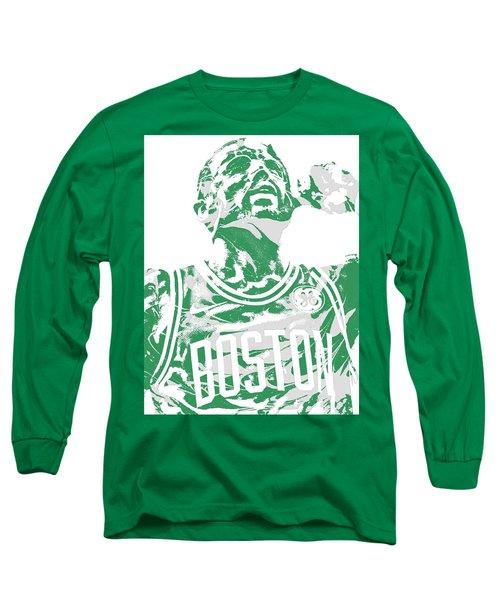 Kyrie Irving Boston Celtics Pixel Art 41 Long Sleeve T-Shirt